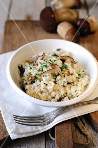 Risotto with ceps