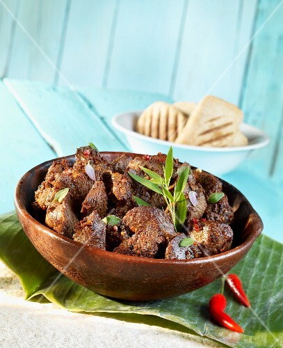 African stew with ostrich meat
