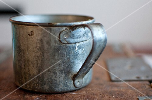 An old tin mug