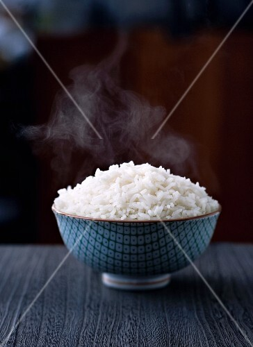 Bowl of Steaming White Rice