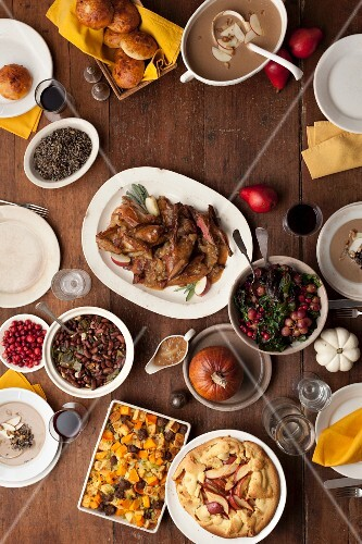 Thanksgiving Table; From Above