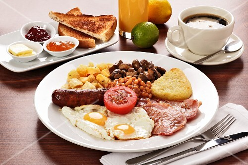 English breakfast and coffee