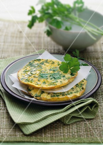 Parsley pancakes