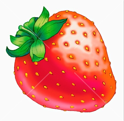 A strawberry (illustration)