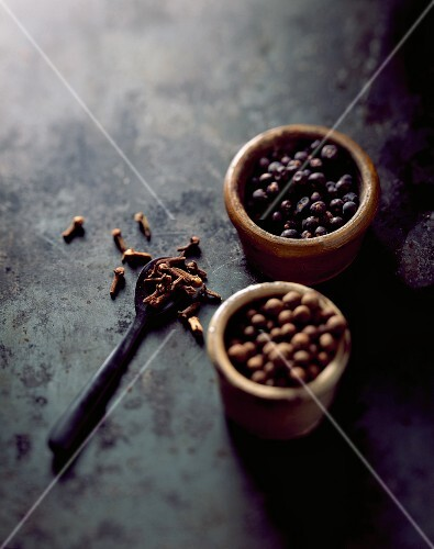 Cloves, allspice and juniper berries