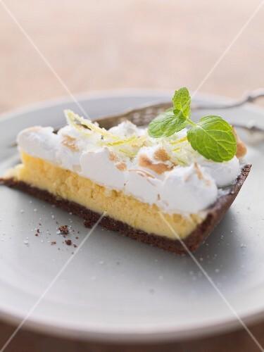 Limetten baiser kuchen