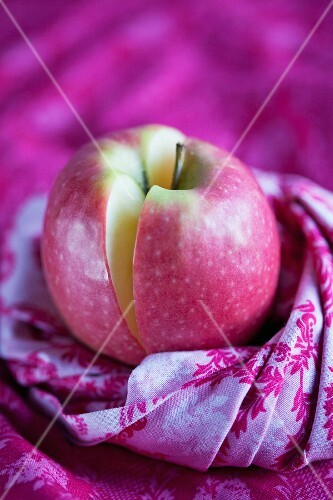 A Pink Lady apple