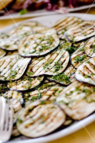 Melanzane grigliate (chargrilled aubergine slices, Italy)