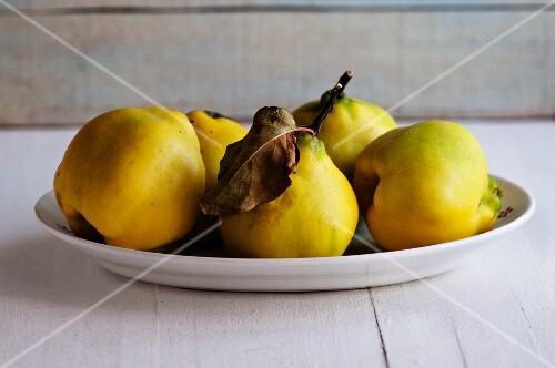 Quinces on a plate