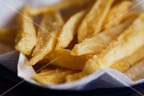 Salted French Fries; Close Up