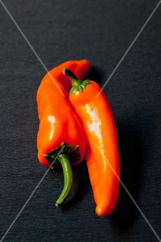 Orange pointed peppers