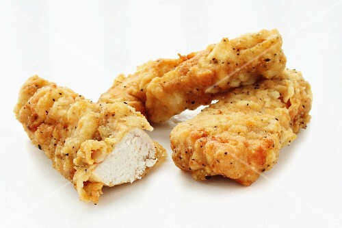 Deep-fried chicken pieces