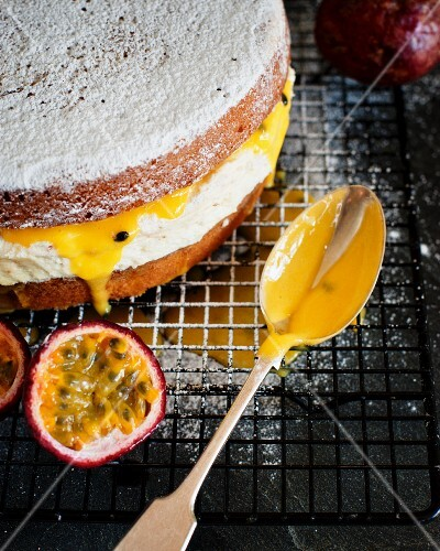 Passion fruit cake