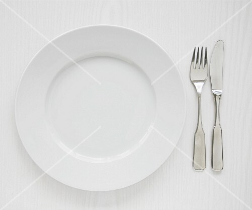 Plate and utensils