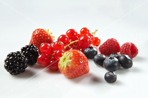 Blackberries, redcurrants, strawberries, blueberries and raspberries