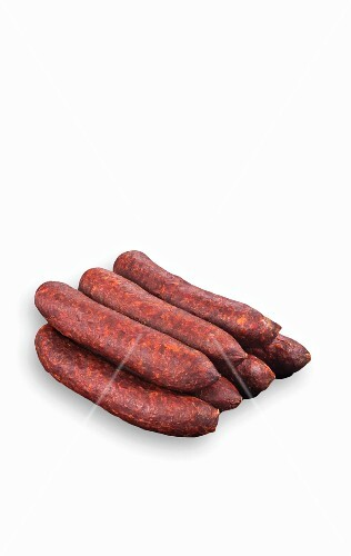 A double layer of Kaminwurz (a South Tyrolean smoked sausage)