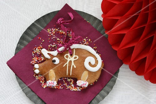 Gingerbread lucky pig