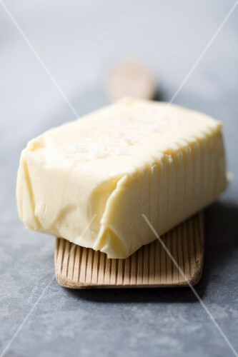 A pat of salted butter