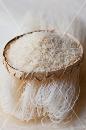 Basmati rice, rice noodles and rice paper