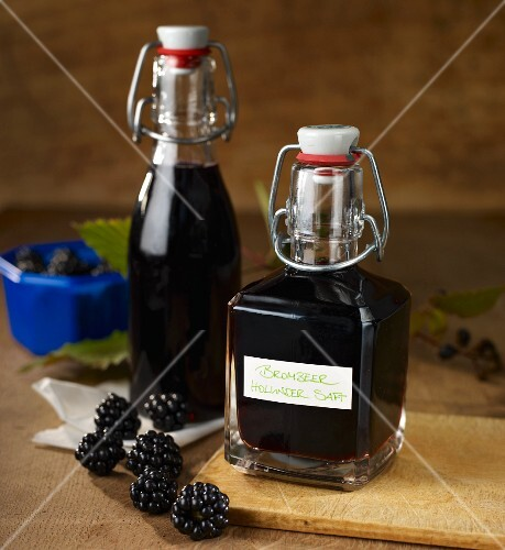 Blackberry and elderberry juice