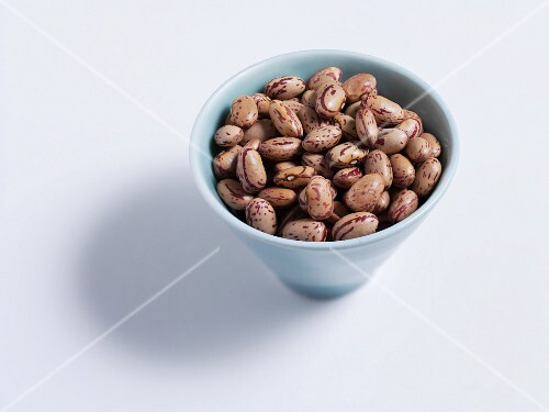 Borlotti beans in a bowl