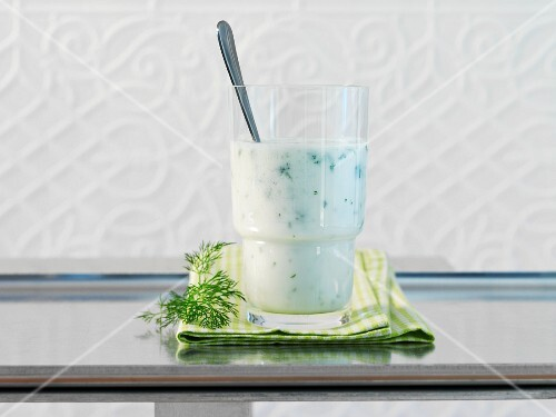 A yoghurt and herb drink