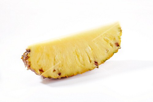 A chunk of pineapple
