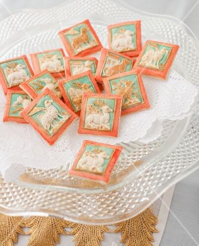 Painted Springerle Cookies