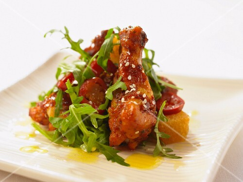 Asian Style Chicken and Rocket Salad