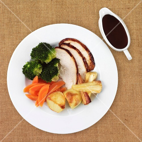 Roast Chicken with vegetables and gravy