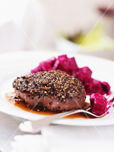 Venison Steak with Beetroot
