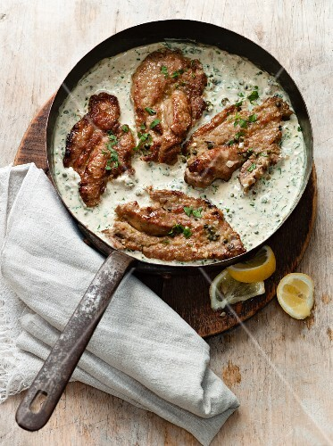 Veal in Lemon-Parsley Sauce