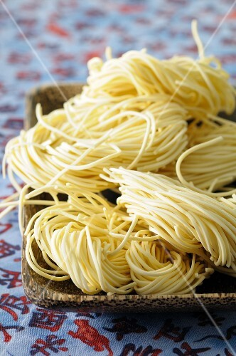 Noodle nests made with Asian rice noodles