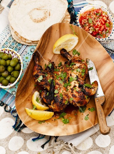 Poussin with coriander and lemon