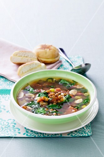 Lentil Vegetable Soup in a Bowl