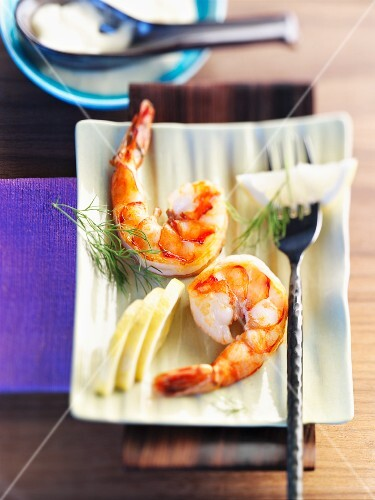 Jumbo shrimp with aioli