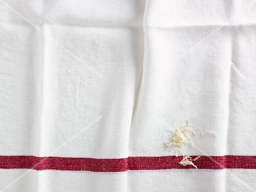 Grated horseradish on a linen cloth