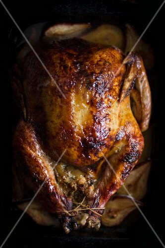 Whole Roast Turkey with Pear Sage Stuffing