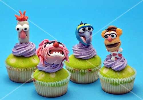 Cupcakes decorated with Muppet figures