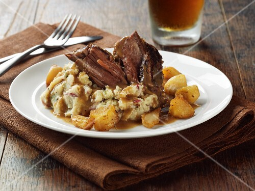 Pot Roast with Turnips and Gravy