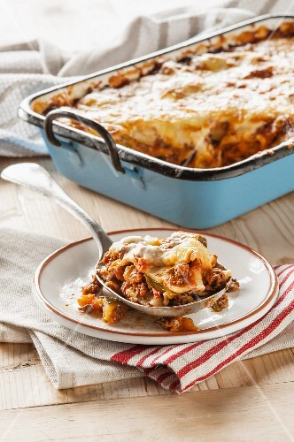 Lasagne with squash (Sicily, Italy)