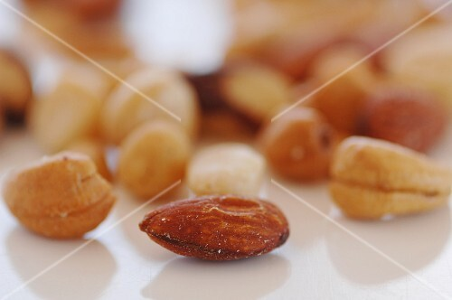Mixed nuts, close up of almond