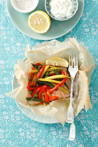 Trout fillet with vegetables