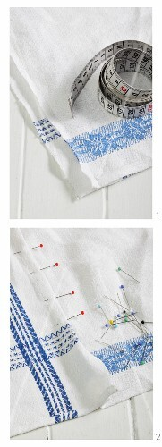 Tea towels pinned together