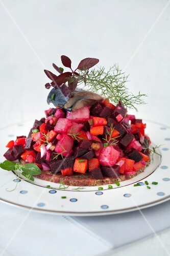 Beet Salad with Fish