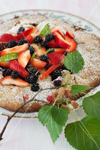 Mulberry and Strawberry Galette