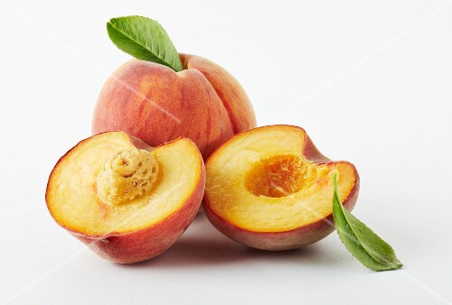 Two half and one whole peach