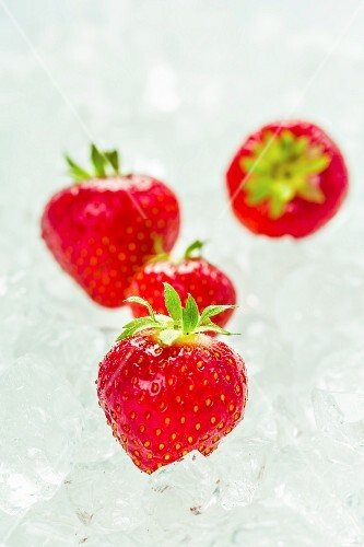 Strawberries on ice