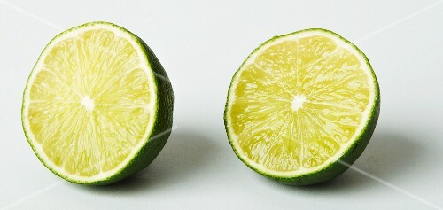 Two lime halves