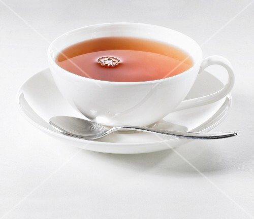 A cup of tea against a white background
